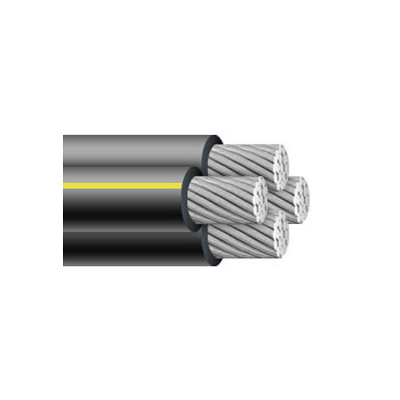 4/0-4/0-4/0-4/0 earlham quadruplex urd cable (direct burial