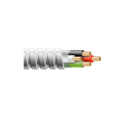8 AWG 2 Conductor 8/2 Stranded MC Cable w/ Ground